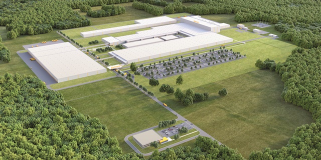 Artist's rendering of Continental's Clinton, Mississippi plant when completed. Image: Continental