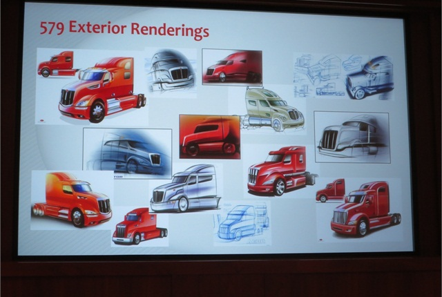 Some of the renderings Peterbilt engineers developed while creating the Model 579.