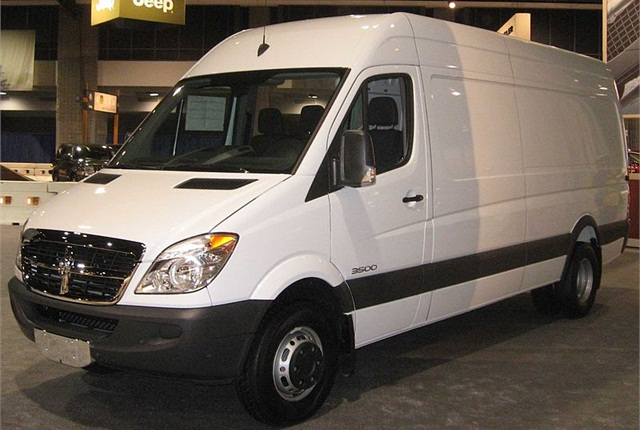 Photo of Dodge Sprinter van by IFCAR via Wikimedia. (Photo shot at 2008 Washington Auto Show.)