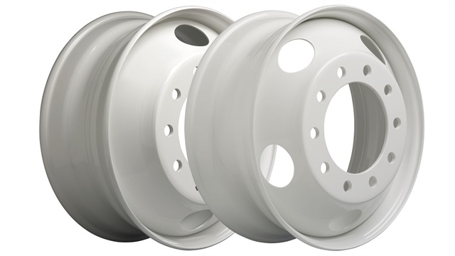 Two 22.5 x 8.25 steel wheels new to the Accu-Lite line. Photo: Accuride