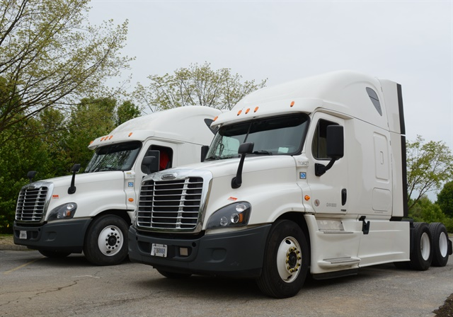 The driving test features a pair of nearly identical trucks, one with Equal Flexx on the tires, the other without. Photo by Jim Park