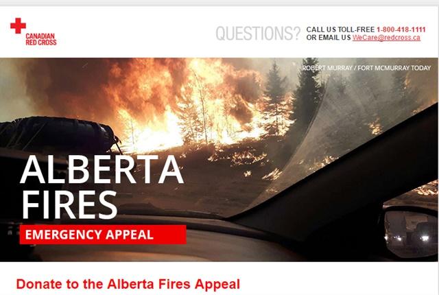 Screenshot via RedCross.ca