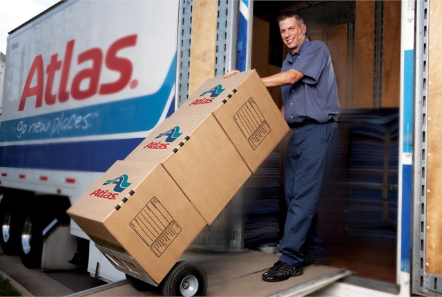 Household goods movers say driver need to be able to drive from a delivery to a safe parking spot even if it's past the 14-hour window. Photo: Atlas Van Lines