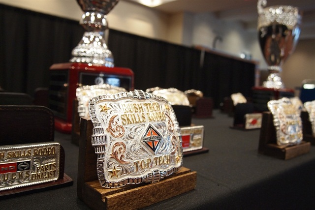 Belt buckles were given out to the winners of each division and trophies were awarded to the grand champions: Photo: Steven Martinez.