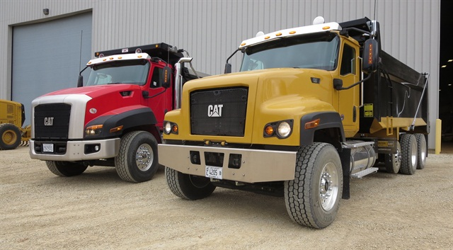 """Cat's CT681, right, features more """"industrial"""" styling than the current CT660. Photo by Tom Berg"""