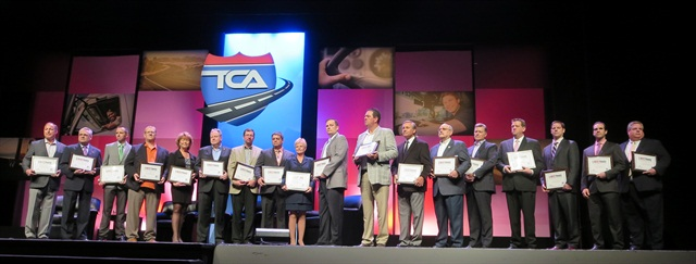 Last year's winners on stage at the TCA Annual Convention. Photo: Deborah Lockridge