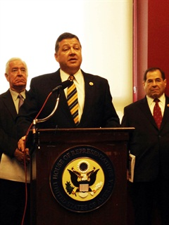 Rep. Bill Shuster, R-Pa., chairman of the House Transportation and Infrastructure Committee, talks to the press about the results of the bipartisan panel's study of freight transport.