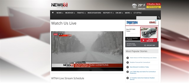 Sceenshot: WTNH New Haven, Conn.
