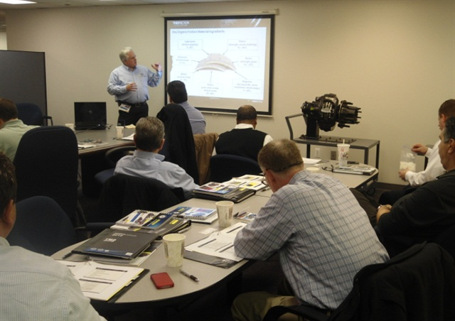 A brake training class in 2014. Photo: TMD Friction.