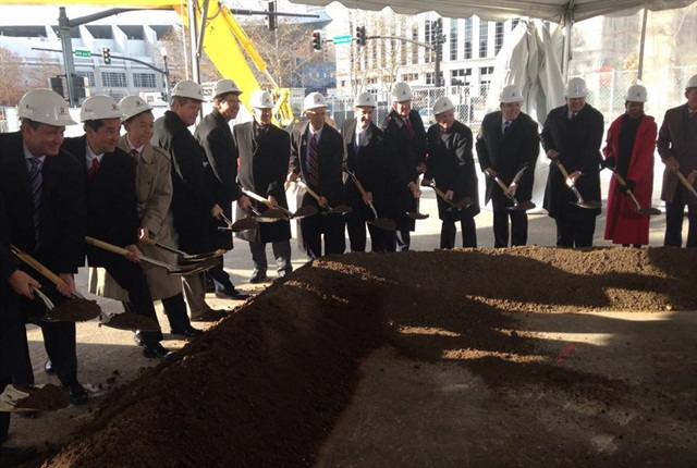 The groundbreaking ceremony at the future Bridgestone Americas headquarters. Photo: Bridgestone America