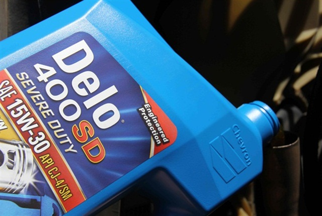 One of many Delo heavy-duty oil products developed during Jim McGeehan's long career at Chevron. Photo:Chevron