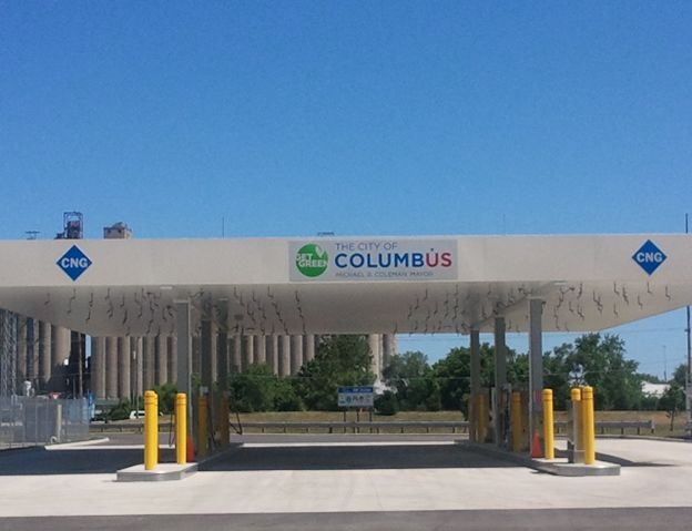 Columbus has opened one publicly accessible CNG fueling station so far, is buidling a second, and could eventually build a third.