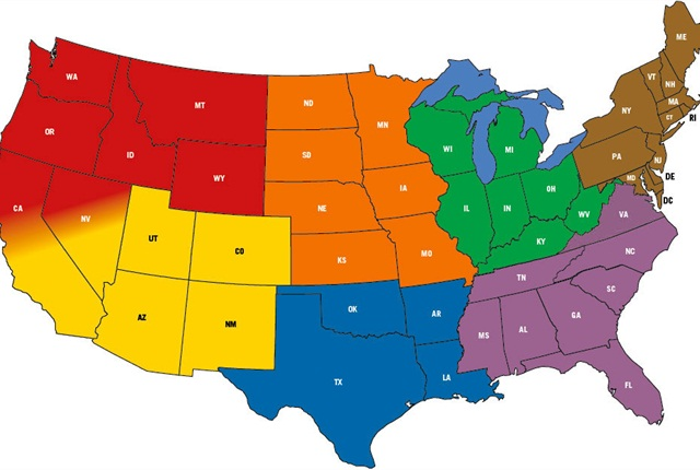 ConMet sales and service regions. Image: ConMet