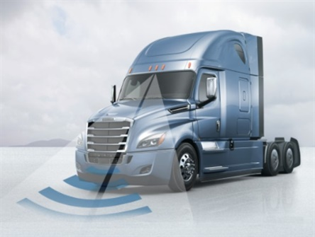 Now standard on the Cascadia, the Detroit Assurance 4.0 suite of safety systems includes Adaptive Cruise Control and Active Brake Assist 4.0. Images via Daimler Trucks North America