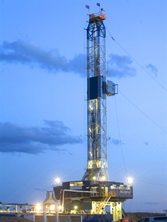 Drilling rig in Wyoming. Photo courtesy BP plc.