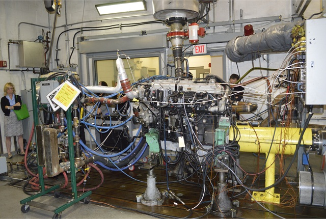 The Melrose Park facility features a number of engine test cells where they are able to simulate a variety of weather and temperature conditions.