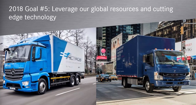 Daimler Trucks North America's Nielsen pointed to electric mobility as technology where the company can leverage the global resources of Daimler.
