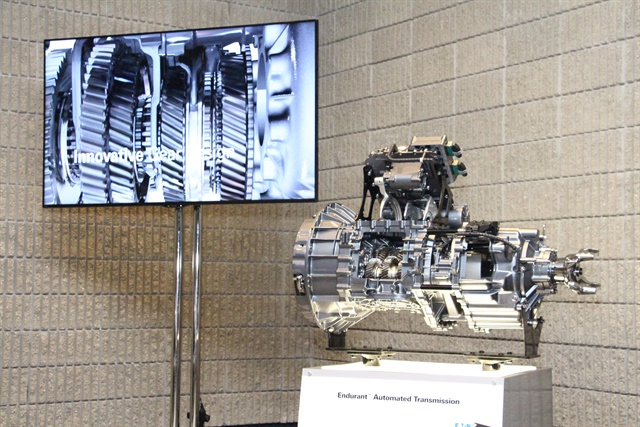 The Eaton Cummins Endurant as unveiled at the North American Commercial Vehicle Show. Photo: Evan Lockridge