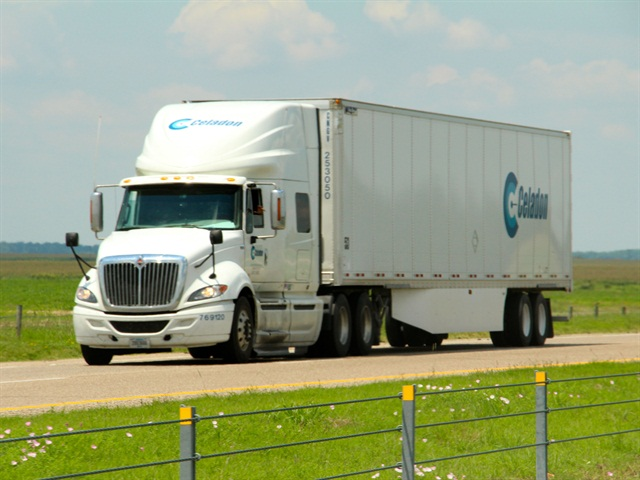 The average age of Celadon's company's tractor fleet was 1.7 years as of December 2013 and the average age of the trailer fleet was 2.4 years. (Photo by Evan Lockridge)