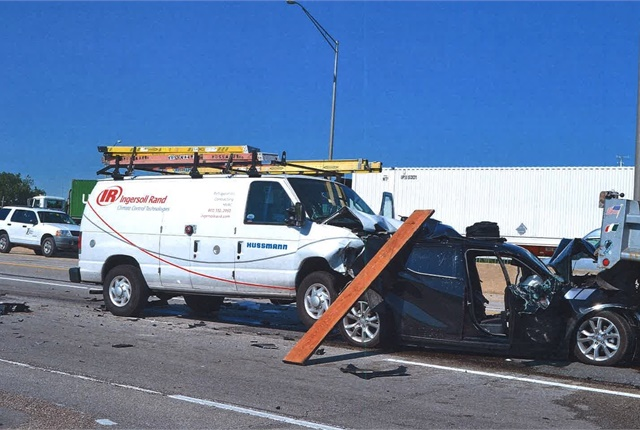 This photo of the crash scene was entered into evidence during the trial. Photo courtesy of Clifford Law Offices.