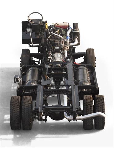 FCCC CNG stripped chassis. Image: FCCC
