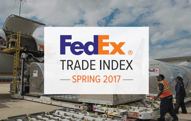 Screenshot from FedEx Trade Index