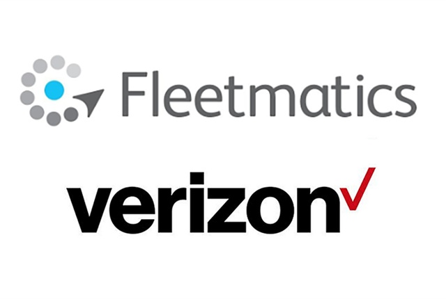Logos via Verizon and Fleetmatics.