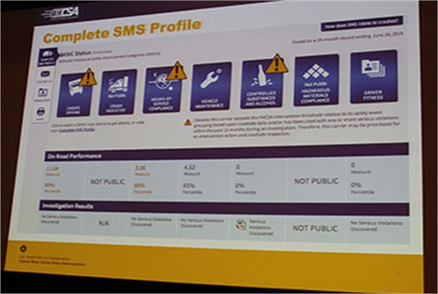 FMCSA redesigned its SMS web page to make it easier for carriers to use and to keep tabs on how they are doing under the CSA program.