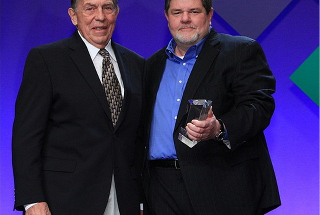 Don H. Freymiller (left), founder and chairman, Freymiller Trucking, and Gary Salisbury, 2011-2012 chairman, Truckload Carriers Association.
