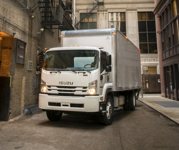 Isuzu's new Class 6 entry to the medium-duty truck market, the FTR. (Photo courtesy of Isuzu Commercial Truck of America).