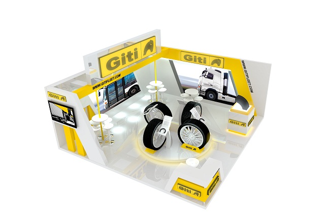 The Giti Tire display for the Malaysia International Bus, Truck and Components Expo. Photo via Giti Tire