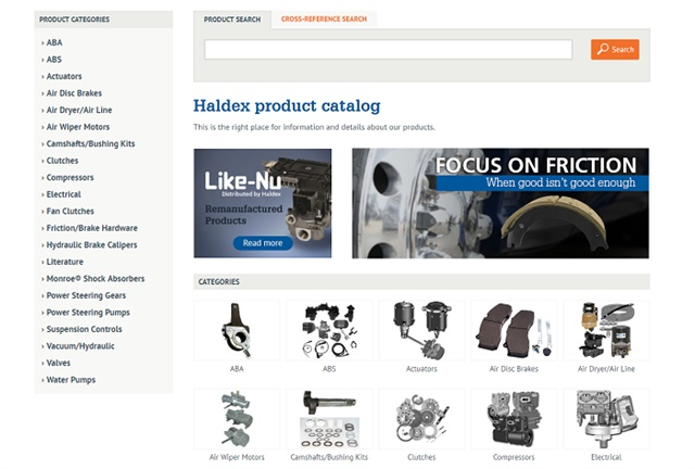 Screenshot via Haldex.com