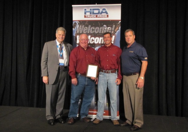 Photo left to right: Mark Willis – HDA Truck Pride, Bobby Willingham & Alan Davenport – owners of Davenport and Willingham, Edward Neeley – Truck Supply Company of South Carolina – sponsoring member. Photo: HDA Truck Pride