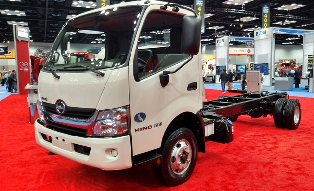 The Hino Model 155 at the Work Truck Show. Photo by Tom Berg