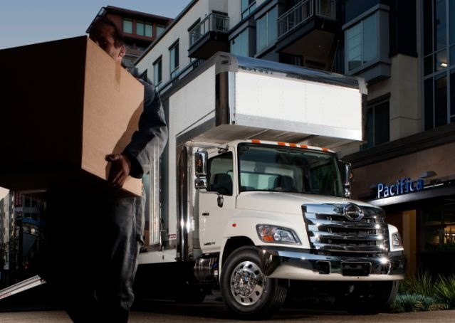A 2017 model-year Hino Model 268A was the 50,000th truck produced by Hino Trucks. (PHOTO: HINO)