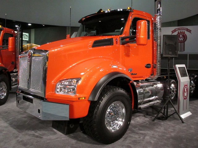 Kenworth's newest vocational model, the T880, unveiled in Louisville, KY yesterday.