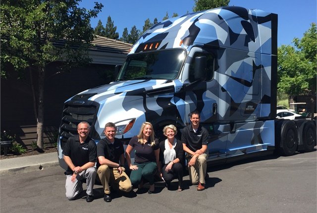 Daimler Trucks North America officials gathered in Yountvile, California, to update trucking reporters on the latest Detroit connectivity and analytics advances. Photo: Deborah Lockridge