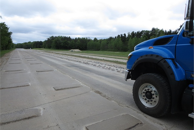 Rough road surfaces subject trucks to intense, accelerated wear. Photo by Tom Berg