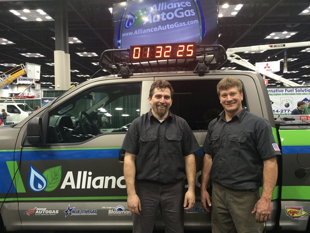 Alliance Autogas technicians (l to r) Stephen Holland and Stacey Snyder. Photo courtesy of Alliance AutoGas.