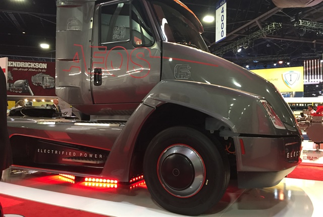 Cummins showed off its new electric concept truck at the NACV show. Photo: Deborah Lockridge