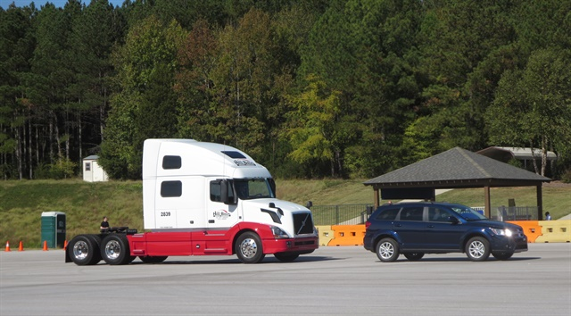 Active Driver Assist senses vehicles ahead and adjusts the truck's speed to match theirs, or stop if need be. Photos: Tom Berg