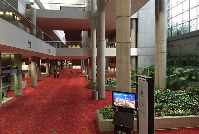Inside Building B of the Georgia World Congress Center where the NACV Show will be held. Photo: Deborah Lockridge