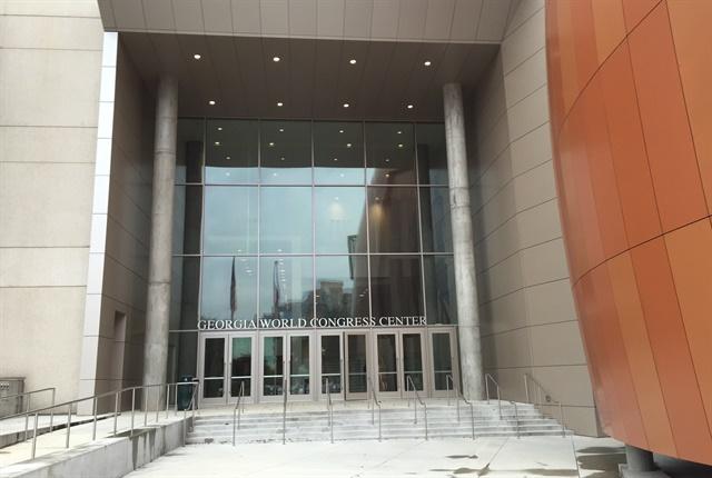 One entrance to the Georgia World Congress Center. Photo: Deborah Lockridge