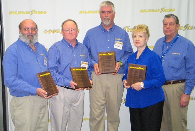 The other nominees for Goodyear's Highway Hero Award also were honored at the event.