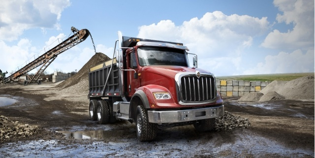 Image of HX Series construction truck courtesy of International trucks.