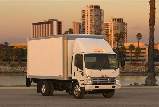Used medium-duty trucks, such as the diesel N-Series, are experiencing overall resale declines. (PHOTO: Isuzu.)