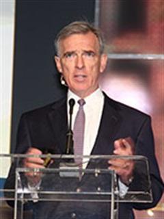 John Larkin speaks at TMW's annual user conference. Photo: Jim Beach