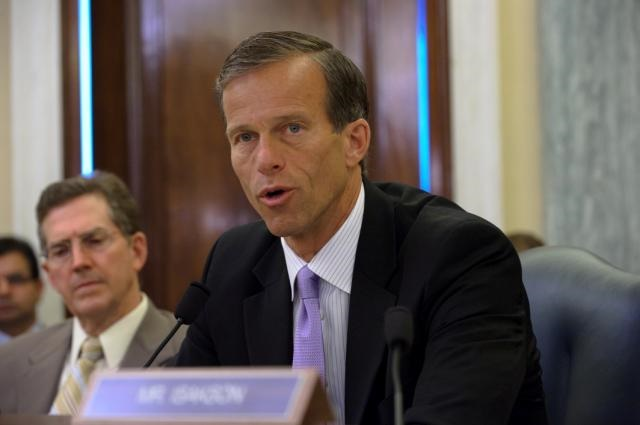Senator John Thune (R-S.D.) at a U.S. Senate Commerce Committee hearing. Photo: Office of Sen. John Thune