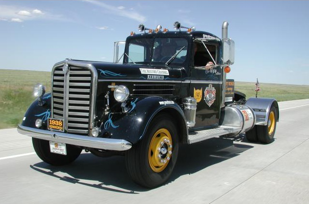 The 1938 Kenworth Truck participating in the Hemming's Motor News Great Race. Photo: Cat Scale