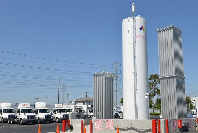 Ryder LNG fuel station in Orange, Calif.